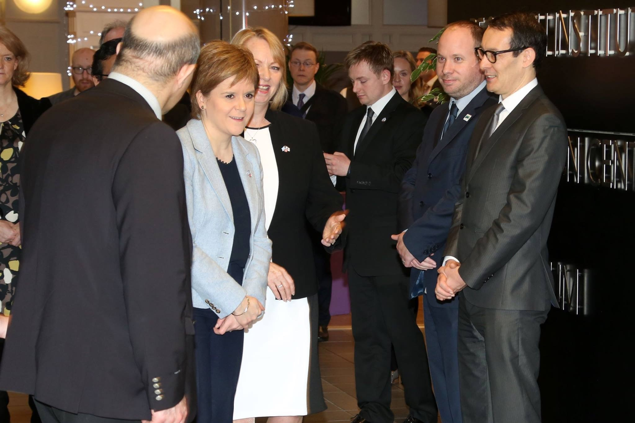 Damon Scott & Philip Briscoe of Dunbartonshire Chamber meet Nicola Sturgeon