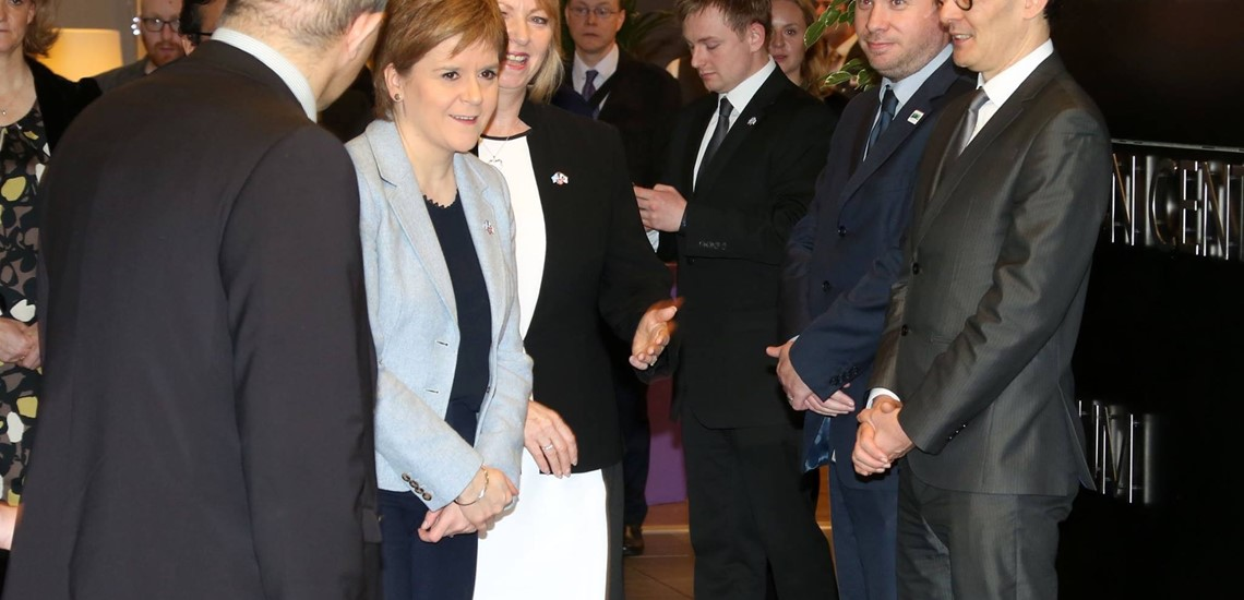 Damon Scott (CEO) and Philip Briscoe with First Minister, Nicola Sturgeon
