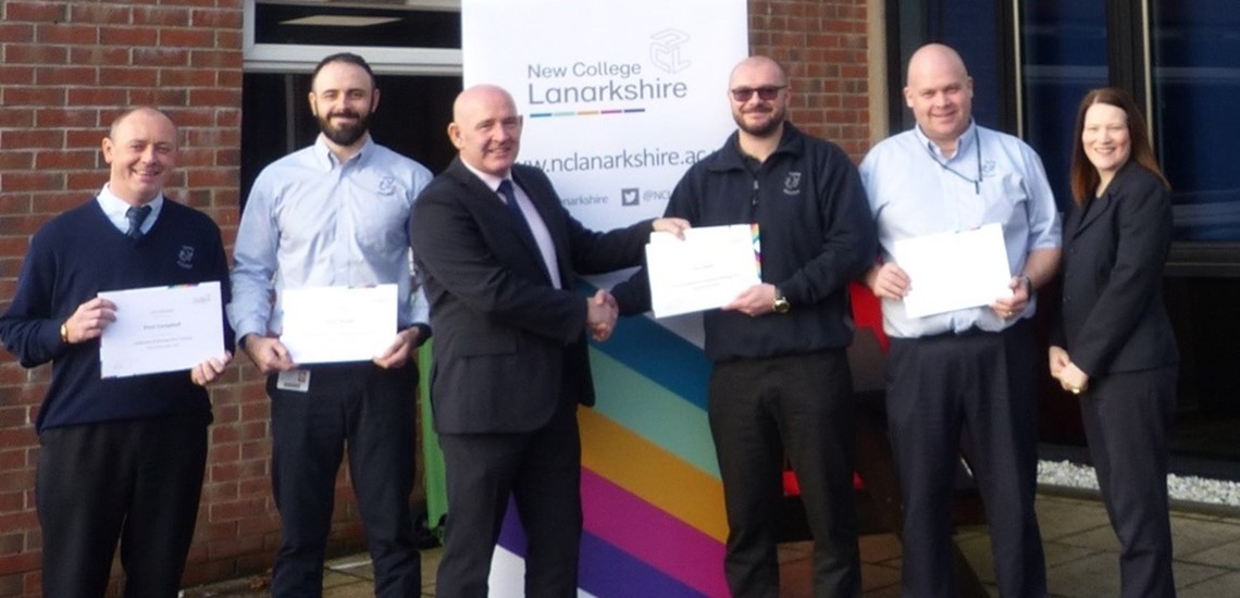 Malcolm Group staff celebrate training success with New College Lanarkshire